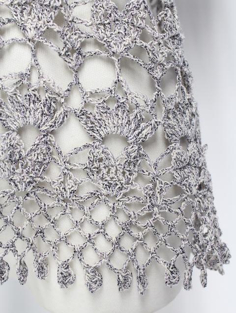 すてきな手編みの人気作品を別糸で編むと・・・_e0219061_1874428.jpg