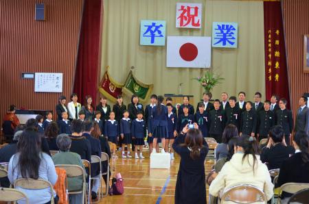 諸鈍小中学校卒業式!_e0028387_14272653.jpg
