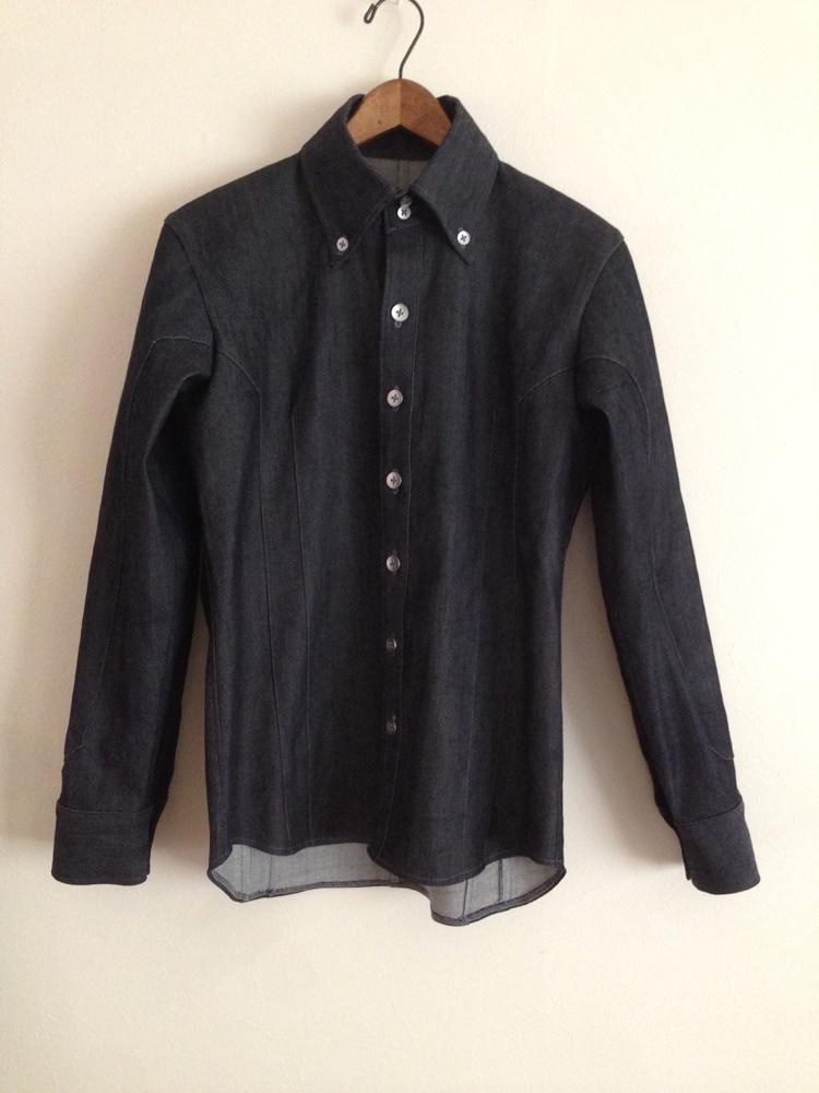 デニムのメンズシャツ (フルオーダー)_b0199696_15404076.jpg