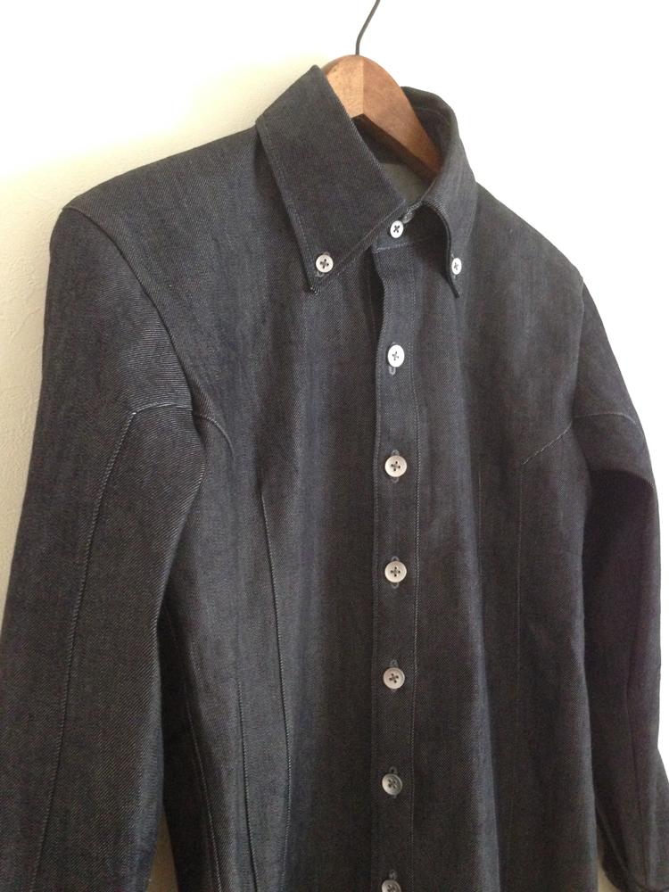 デニムのメンズシャツ (フルオーダー)_b0199696_15404591.jpg