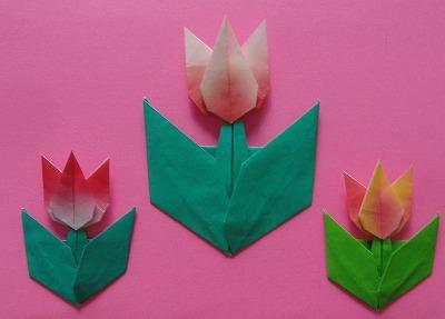 クリスマス 折り紙 チューリップ 折り紙 : origami77.exblog.jp