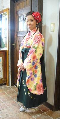 袴の着付けとセットメーク その2_a0123703_1859543.jpg