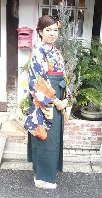 袴の着付けとセットメーク その2_a0123703_1923488.jpg