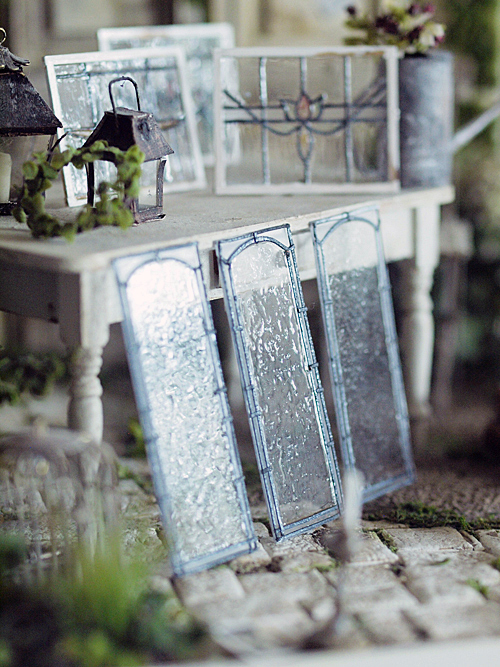 miniature*  アンティーク風 ステンドガラス。息子の喘息。_e0172847_11511938.jpg