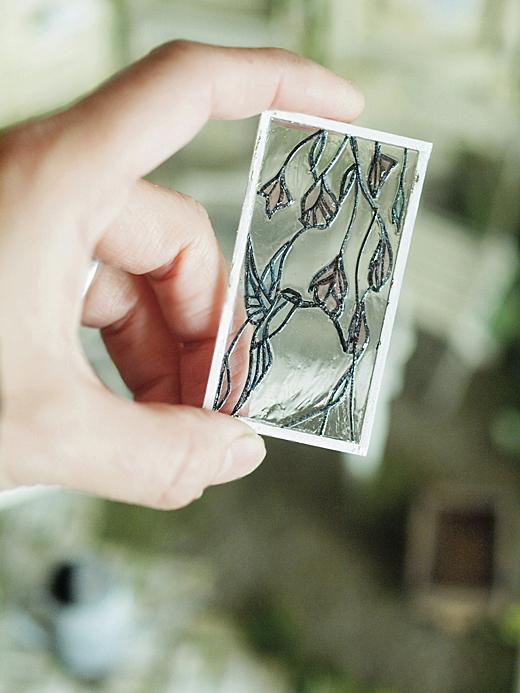 miniature*  アンティーク風 ステンドガラス。息子の喘息。_e0172847_11512287.jpg