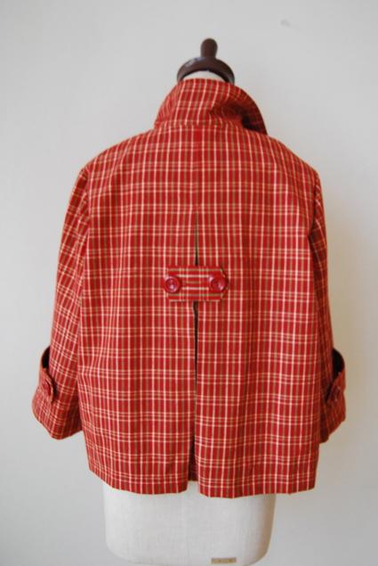 着物リメイク・格子のピーコート_d0127925_16301837.jpg