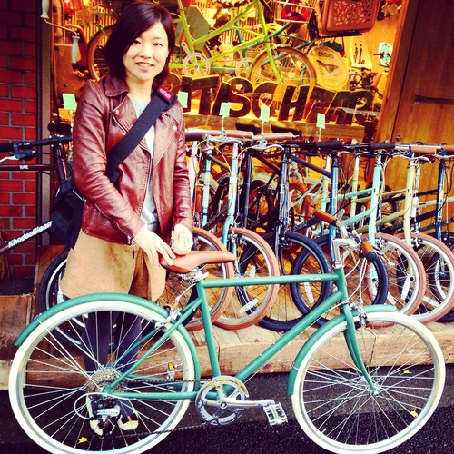 ☆今日のバイシクルガール10本立て☆ 自転車 女子 おしゃれ ミニベロ クロスバイク ロード_b0212032_20123410.jpg