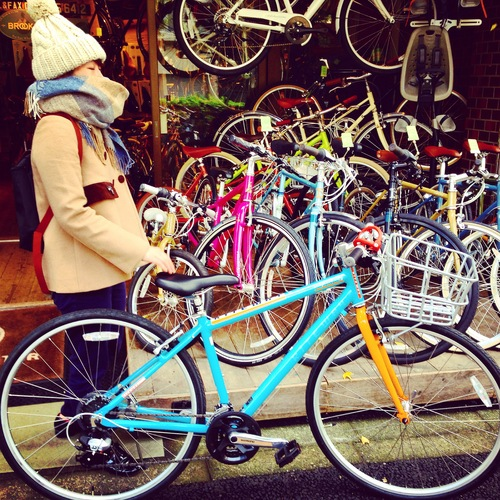 ☆今日のバイシクルガール10本立て☆ 自転車 女子 おしゃれ ミニベロ クロスバイク ロード_b0212032_2013146.jpg