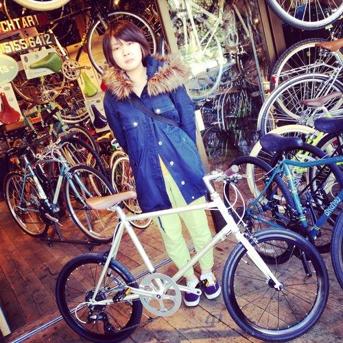 ☆今日のバイシクルガール10本立て☆ 自転車 女子 おしゃれ ミニベロ クロスバイク ロード_b0212032_2013264.jpg