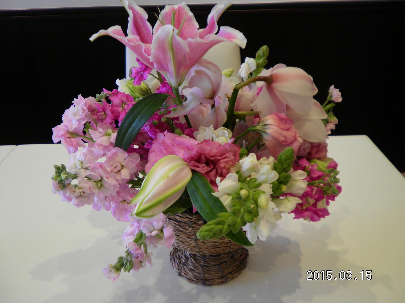 たくさんのお祝いのお花_e0190287_1434860.jpg