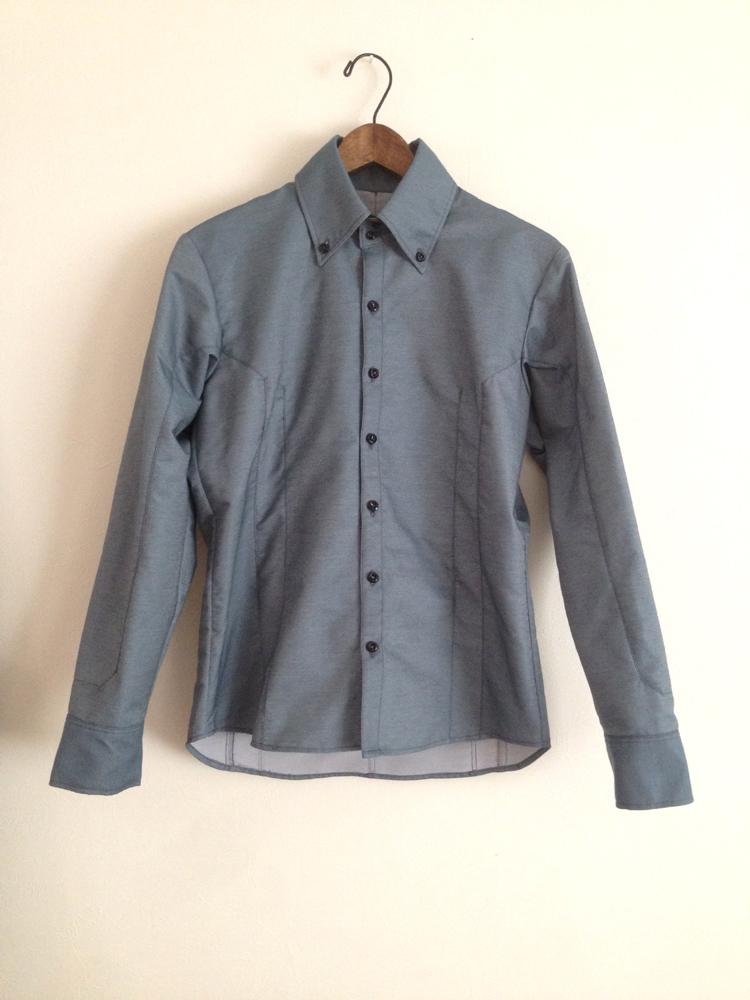 水色生地の切り替えのシャツ (フルオーダー)_b0199696_19145140.jpg