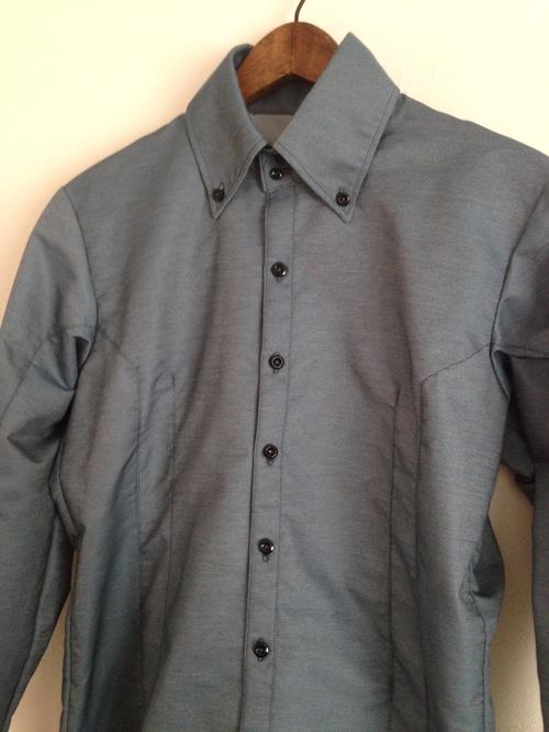 水色生地の切り替えのシャツ (フルオーダー)_b0199696_19145648.jpg