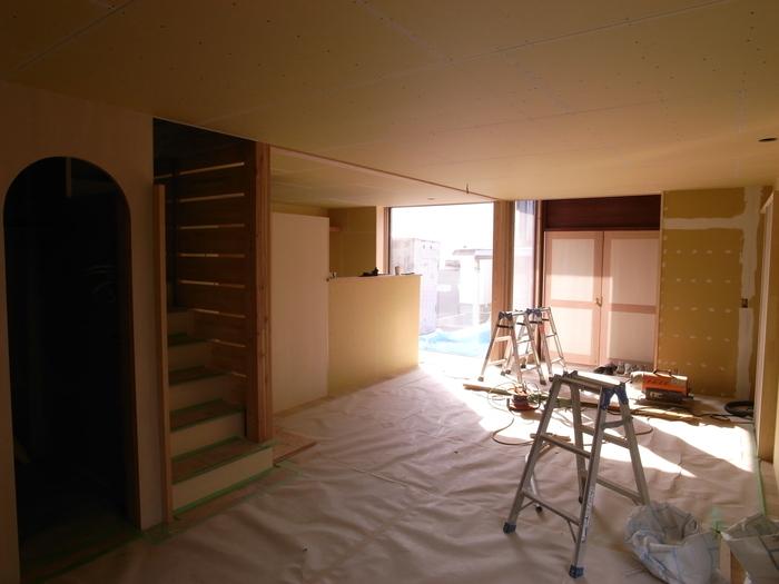 1F木工事完了、続いて塗装工事_d0332870_210120.jpg