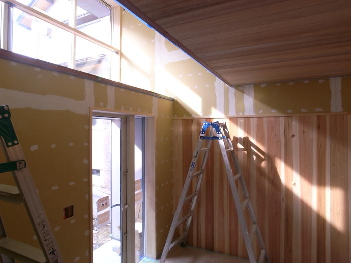1F木工事完了、続いて塗装工事_d0332870_2111643.jpg
