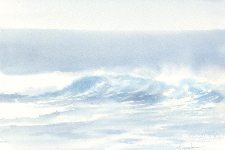海 水彩画_f0176370_14143576.jpg