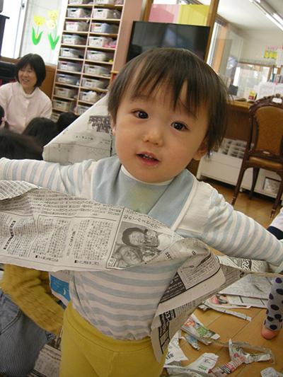 ☆新聞紙遊び☆_a0162903_1303055.jpg