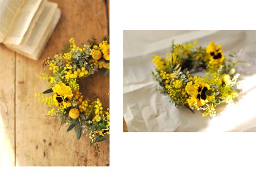 菜種梅雨と、黄色のリース。_d0174704_16572879.jpg