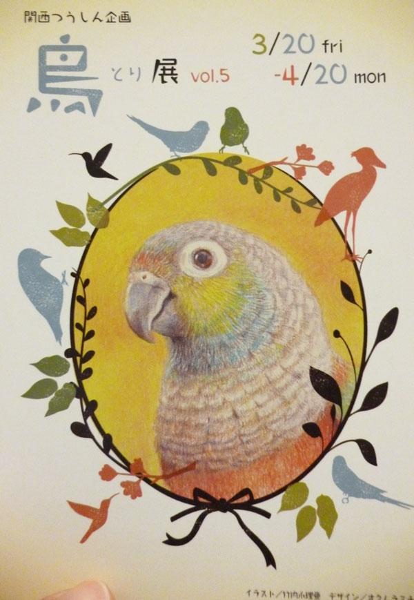 関西つうしん「鳥展vol.5」はじまります。_d0123492_12451027.jpg