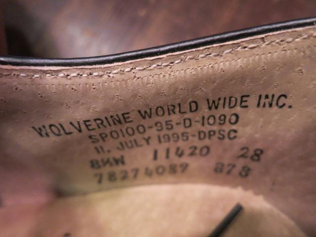 3/21(土)入荷!95年製 WOLVERINE ウルヴァリン NAVY サービスシューズ!_c0144020_16211889.jpg