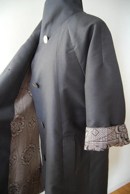 着物リメイク・変り襟コート_d0127925_0184594.jpg