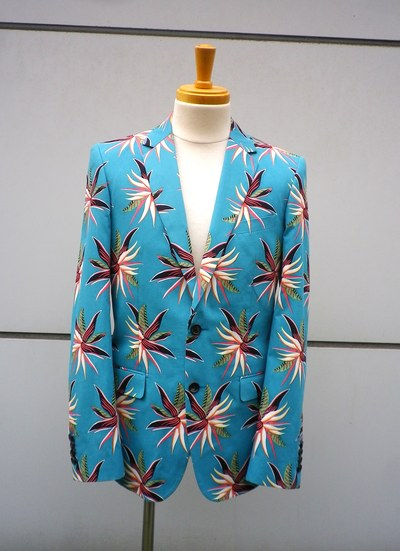TROPICAL FLOWER NOTCHED LAPEL JK _d0100143_18563980.jpg