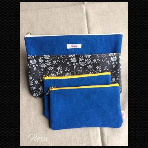 ブルー帆布でポーチ作りました!_c0247253_18235416.jpg