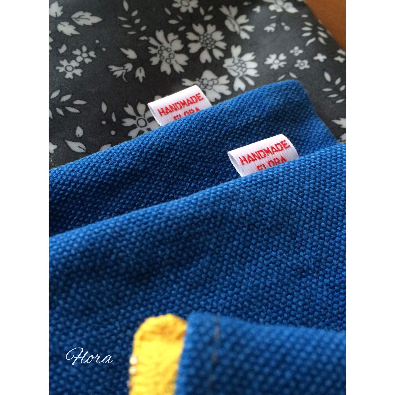 ブルー帆布でポーチ作りました!_c0247253_18334116.jpg
