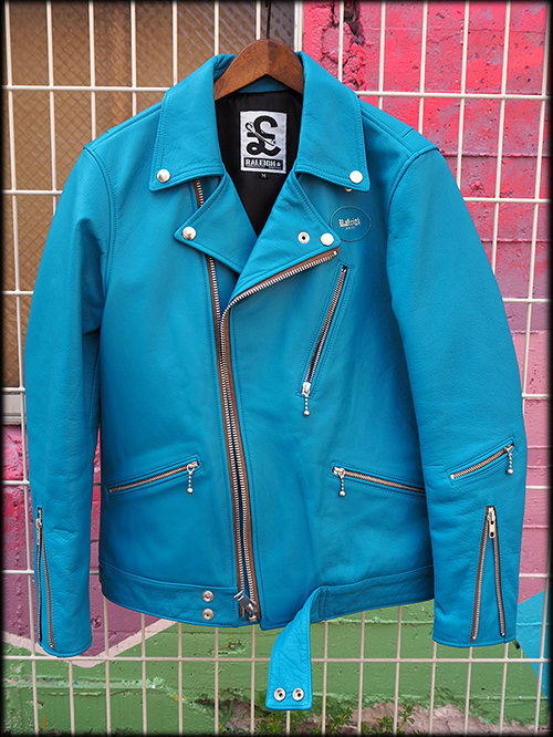 "MOTORCYCLE ""REBEL CLOTH"" LEATHER JACKET REBEL BLUE 入荷しました_e0325662_14463776.jpg"