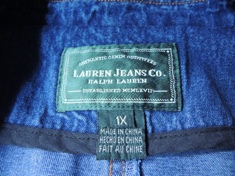 LAUREN JEANS CO. DENIM BLAZER&JACKET--RECOMMEND--_c0176867_1401291.jpg