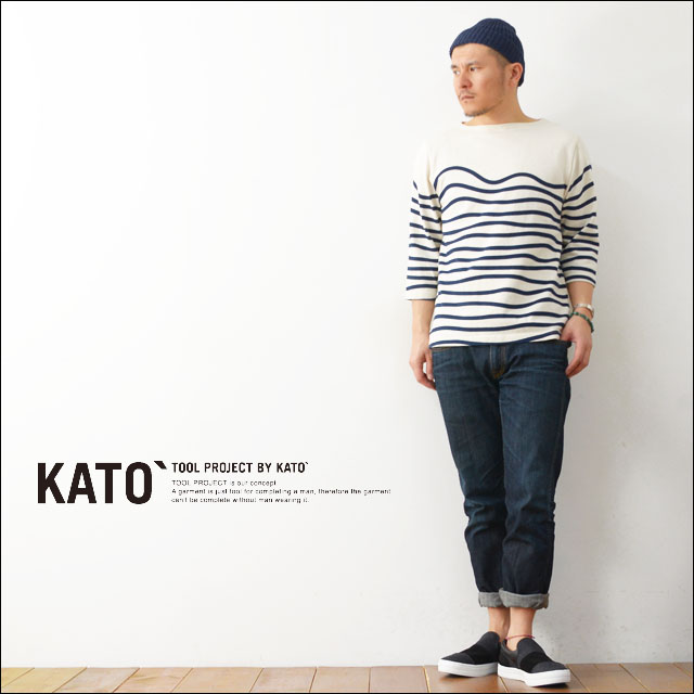 KATO\'[カトー] WAVE BORDER CUT&SEWN [KC510641] MEN\'S_f0051306_19461153.jpg