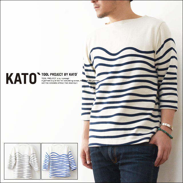 KATO\'[カトー] WAVE BORDER CUT&SEWN [KC510641] MEN\'S_f0051306_1946846.jpg