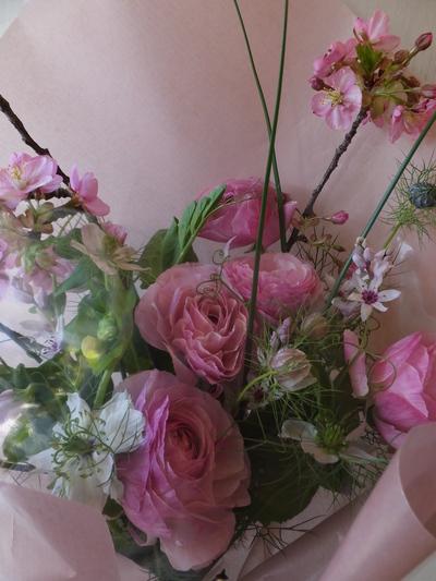 オークリーフ(ラナンキュラスの花束)_f0049672_1659652.jpg