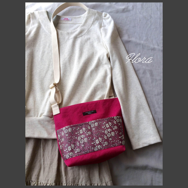 ピンク帆布で斜めがけバッグ作りました!_c0247253_10333150.jpg