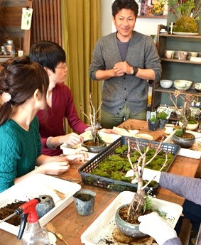 桜盆栽教室2回目ありがとうございました_d0263815_1714228.jpg