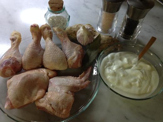 鶏肉、ヨーグルトソースでオーブン焼き_a0136671_033117.jpg