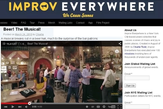 NYの街角即興集団、Improv Everywhereの最新作はビアホール・ミュージカル_b0007805_22471418.jpg
