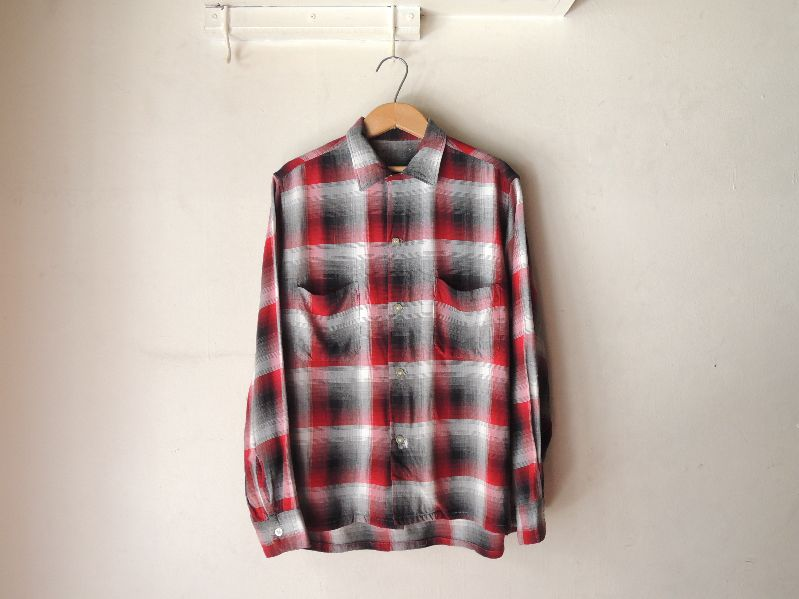 60S70S RAYON SHADOW CHECK SHIRT--RECOMMEND--_c0176867_17432638.jpg
