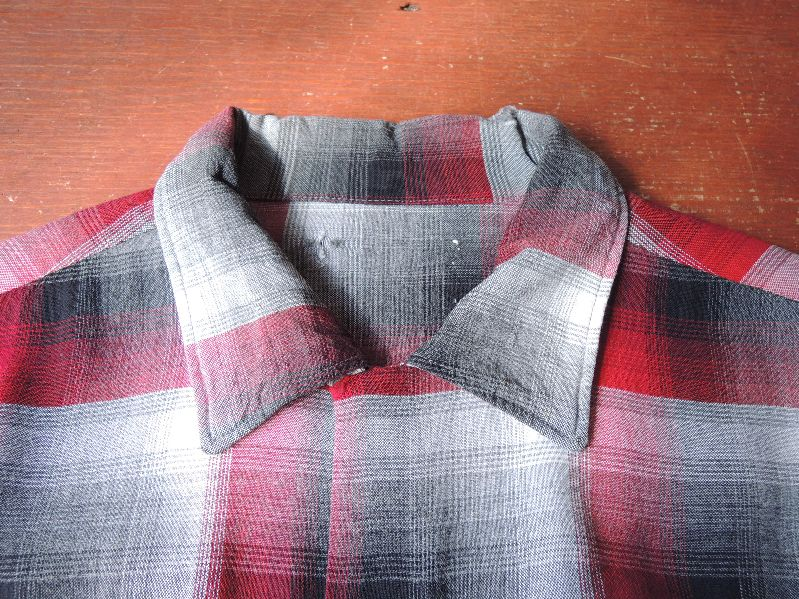 60S70S RAYON SHADOW CHECK SHIRT--RECOMMEND--_c0176867_17483481.jpg