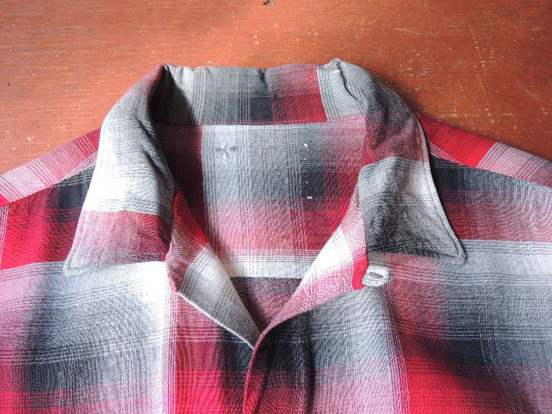60S70S RAYON SHADOW CHECK SHIRT--RECOMMEND--_c0176867_17484631.jpg