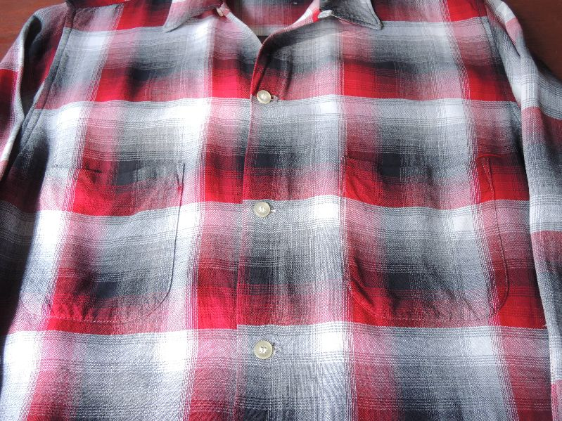 60S70S RAYON SHADOW CHECK SHIRT--RECOMMEND--_c0176867_1756557.jpg