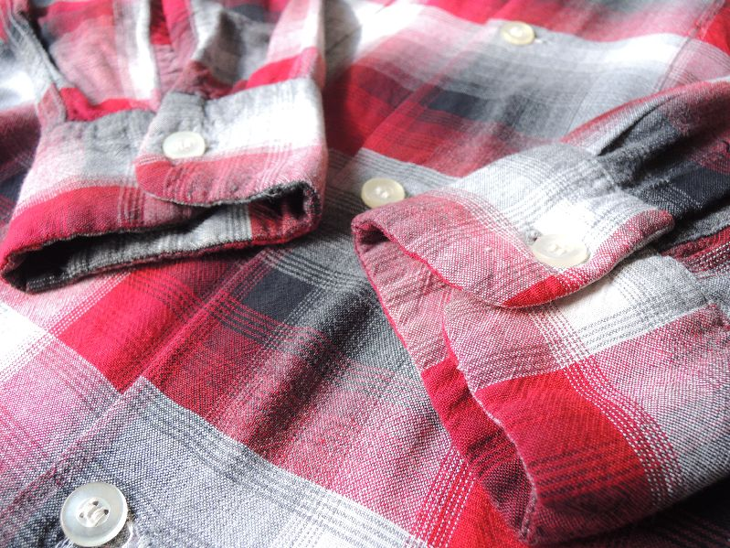 60S70S RAYON SHADOW CHECK SHIRT--RECOMMEND--_c0176867_1757149.jpg