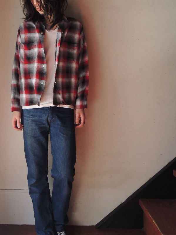 60S70S RAYON SHADOW CHECK SHIRT--RECOMMEND--_c0176867_1813815.jpg
