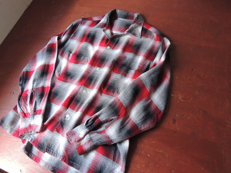 60S70S RAYON SHADOW CHECK SHIRT--RECOMMEND--_c0176867_1871880.jpg