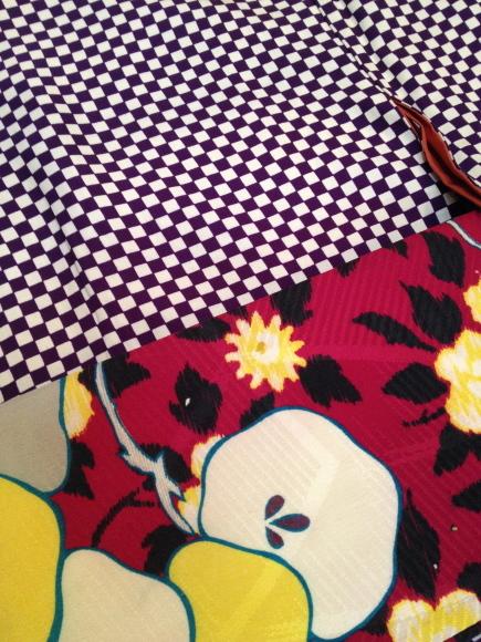 明日より♪カジュアル着物♪チョウチョ・チェック・市松♪販売商品34_c0321302_22221779.jpg