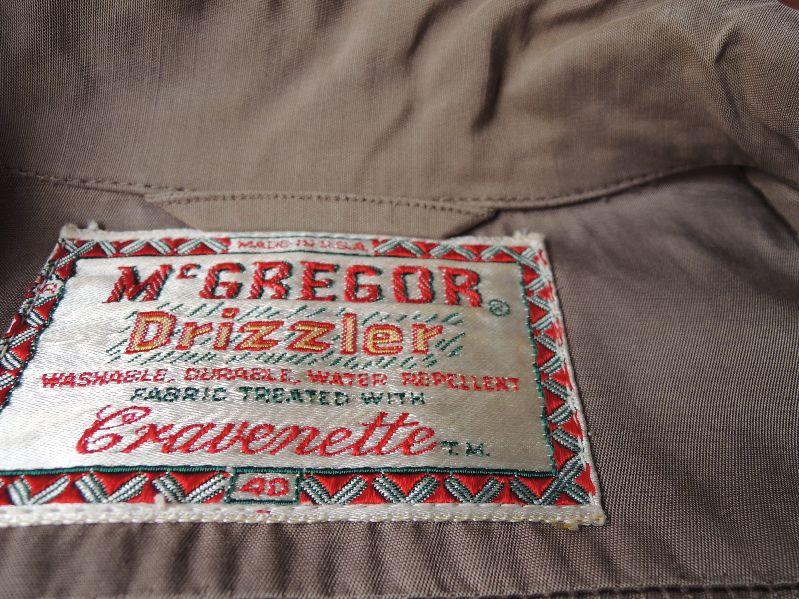 50S~ McGREGOR DRIZZLER JACKET --RECOMMEND--_c0176867_145536.jpg
