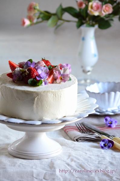 夫の誕生日に春のショートケーキ  Homemade Strawberry Sponge Cake for My Husband\'s Birthday_d0025294_22301573.jpg