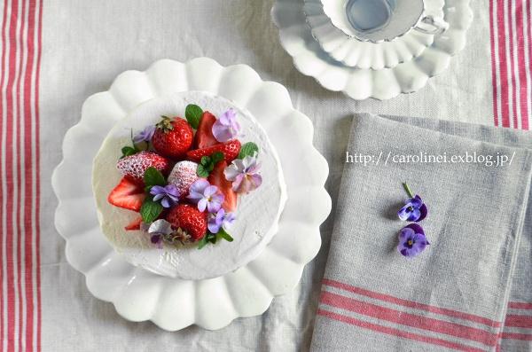 夫の誕生日に春のショートケーキ  Homemade Strawberry Sponge Cake for My Husband\'s Birthday_d0025294_2230464.jpg