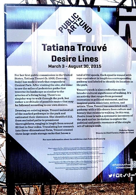 """セントラルパークのお散歩コースを1つに凝縮したパブリック・アート?! \""""Desire Lines\"""" by Tatiana Trouvé_b0007805_212124.jpg"""