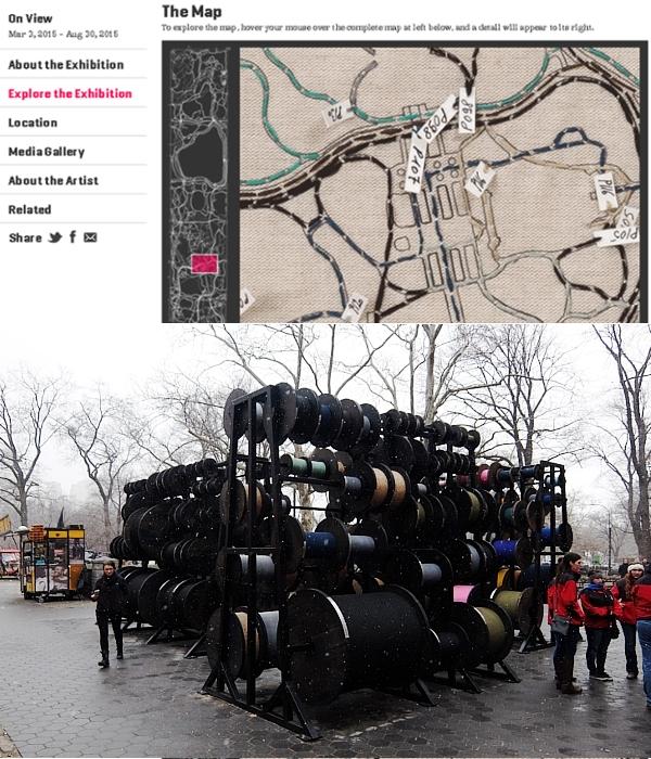 """セントラルパークのお散歩コースを1つに凝縮したパブリック・アート?! \""""Desire Lines\"""" by Tatiana Trouvé_b0007805_2153514.jpg"""