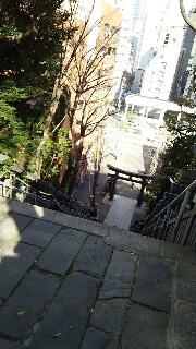 愛宕神社の出世の石段を登りました。_f0008555_19142228.jpg